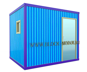 Блок-контейнер сантехнический размерами 2,4*3,0м.
